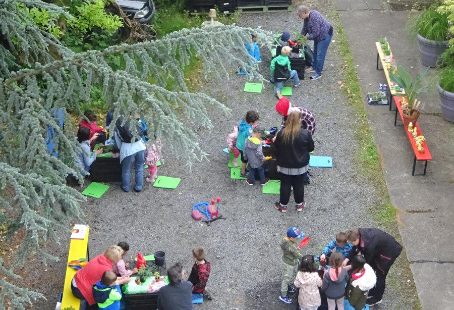 """""""Wo das Essen wächst"""": Gartenaktion mit Kita-Kindern bei TomatOS e.V."""
